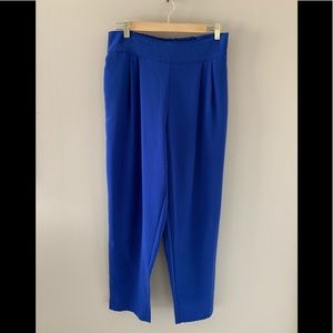 Forever21 Taper Leg Electric Blue Pants